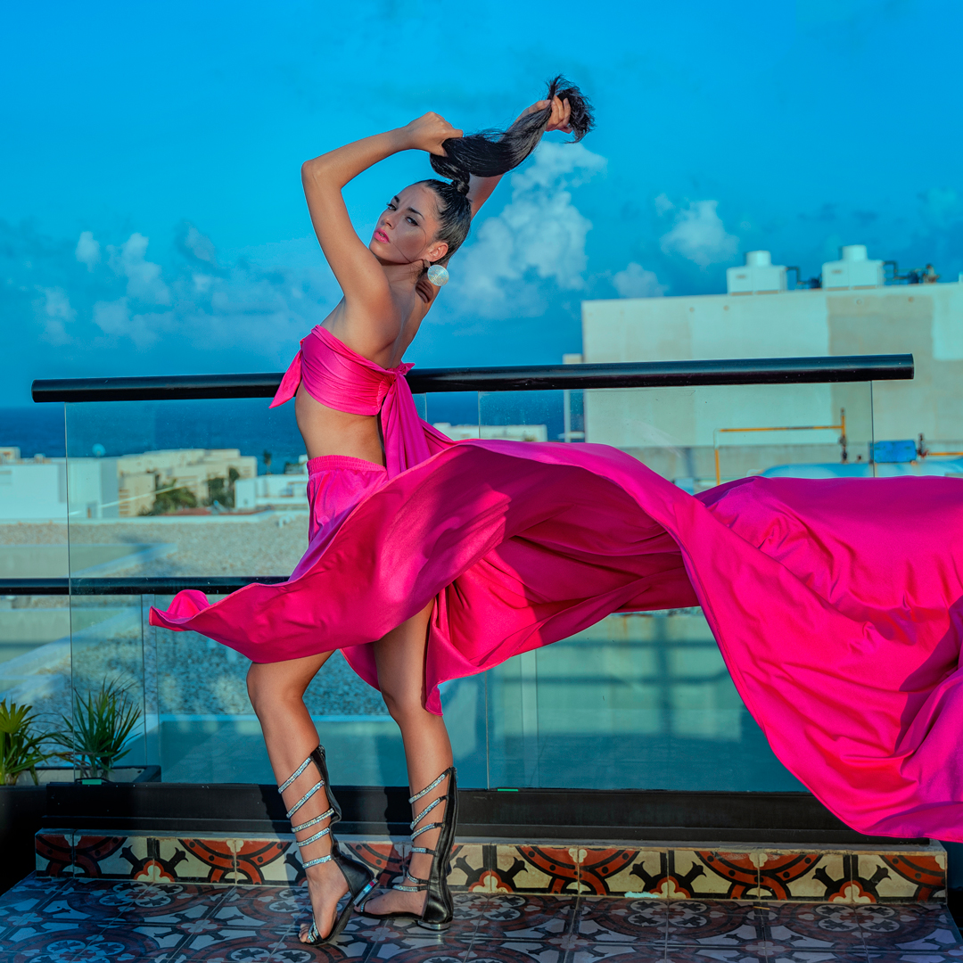 Flying Dress Photographer In Tulum Mexico