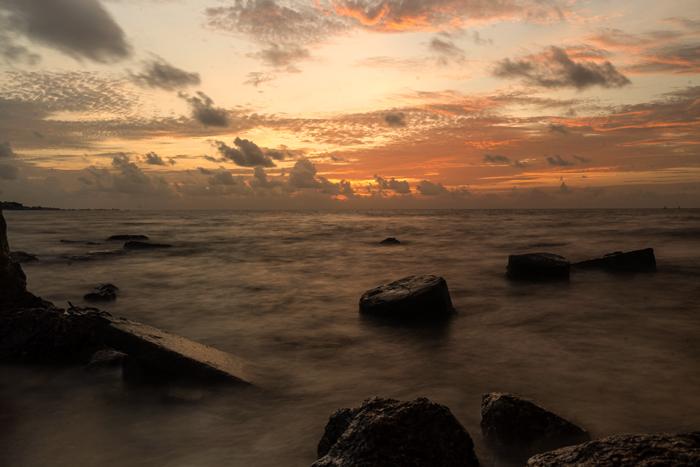 Long Exposure Sunrise Or Sunset Beach Camera Settings